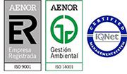 Logos acreditaciones AENOR