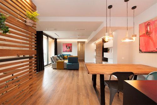 Salon del proyecto Almeda con sistema de climatización Airzone