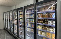 cámaras frigoríficas en un supermercado