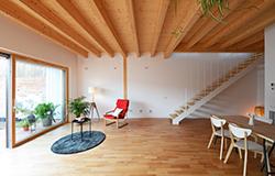 Vivienda preindustrializada madera bajo consumo