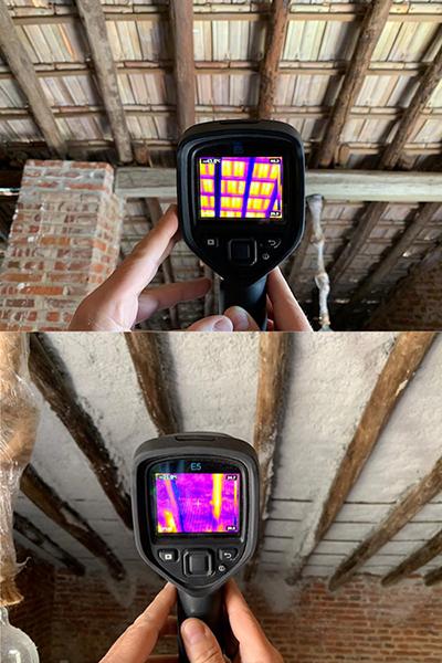 Cámara termográfica Aislamiento lana de roca Eccoaisla