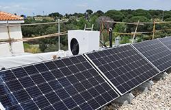 Instalación aerotermia con energia solar Passive House Madrid Eficiencia Bioclimática