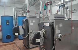 Renovación sala calderas de gas Salamanca Electro-clisa
