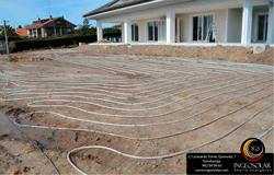 Instalación geotermia con captación horizontal