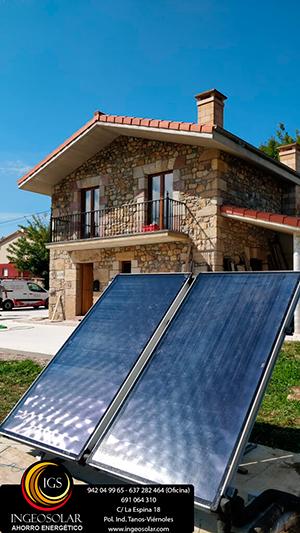 Instalación caldera pellets y captador solar Ingeosolar