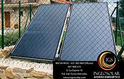 Instalación caldera pellets y captador solar Cantabria por Ingeosolar