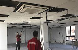 Instalación de climatización y ventilación en oficinas