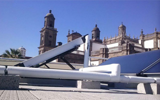 Instalación solar térmica en vivienda de Las Palmas de Gran Canaria