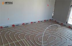 Instalación de aerotermia en vivienda de nueva construcción Irtesc