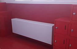Radiador de Jaga instalado en el colegio Joyfe de Madrid