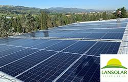 Lansolar instalación placas fotovoltaicas nave industrial Bizkaia