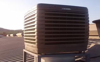 Solución de climatizador evaporativo