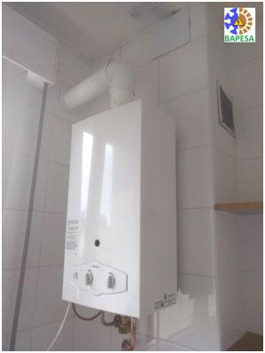 Instalación de calentador de gas