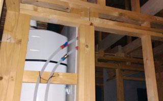 instalación de bomba de calor en casa ecológica