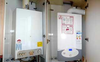 Imagen de una sustitución de caldera por otra de condensación
