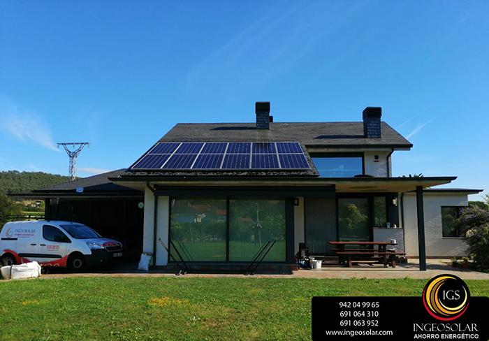 vivienda con instalación de autoconsumo fotovoltaico instalado por Ingeosolar