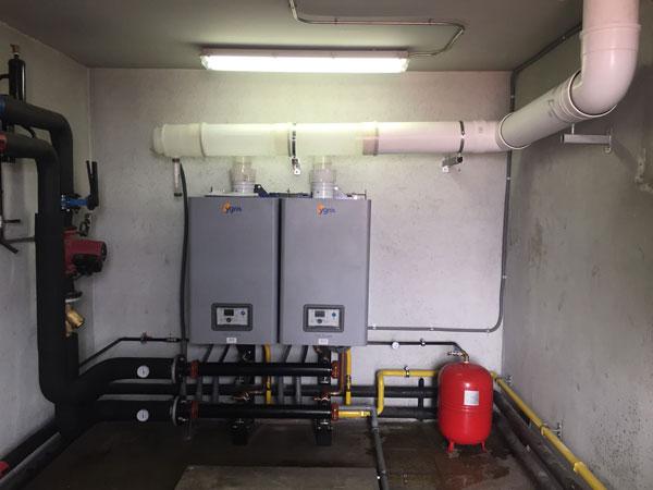 Grupo modular de calderas de condensación a gas