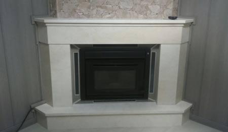 Estufa de pellets insertable en chimenea