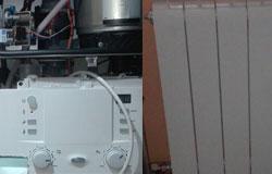 Caldera de gas y radiadores