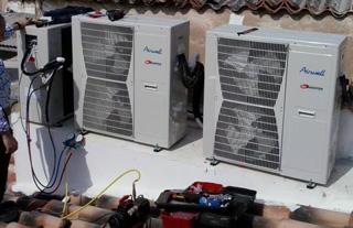 Imagen de unidades exteriores de aire acondicionado por conductos