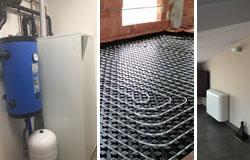 Instalación de aerotermia , suelo radiante y fancoils en vivienda unifamiliar