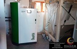 Caldera de condensación automática de pellets para calefacción y acs