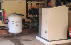 Instalación de bomba de calor geotérmica