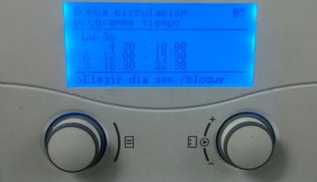 Franjas horarias programación bomba de calor