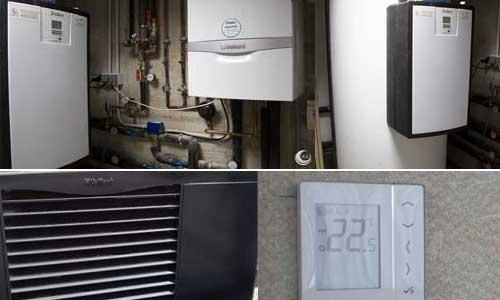 Caldera de condensación y bomba de calor