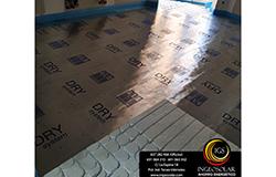 Foto de instalación de suelo radiante seco en rehabilitación de piso en Cantabria