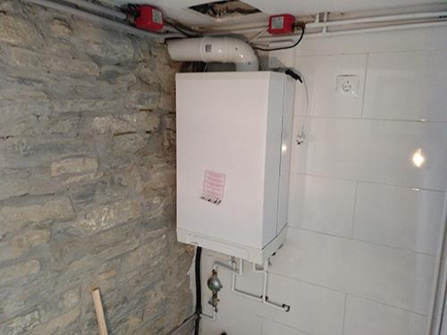 Una caldera instalada por neytesa para producir calefacción y ACS