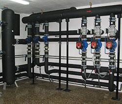 Red de tuberías nueva instalación
