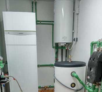 Instalaci n de bomba de calor geot rmica y suelo radiante - Bomba de calor geotermica precio ...
