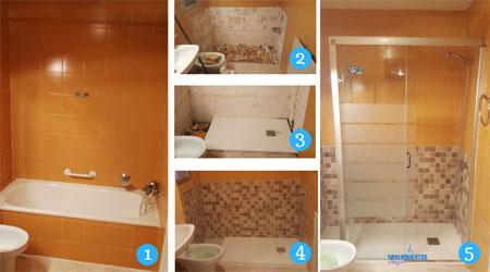 Cambio de bañera a plato de ducha