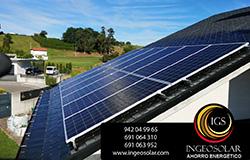 Instalación de placas fotovoltaicas en un tejado