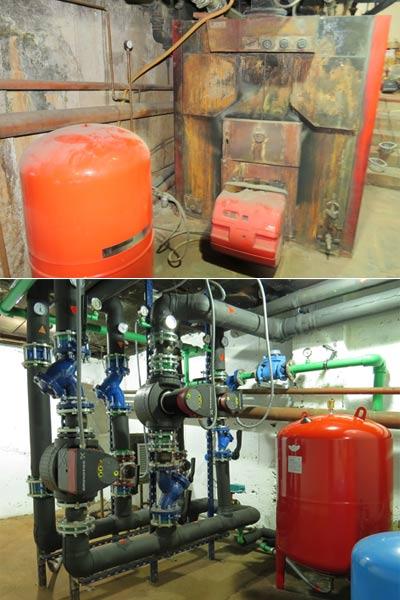 Renovación de sala de calderas y antigua sala de calderas