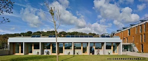 instalación solar centro geriátrico passivhaus