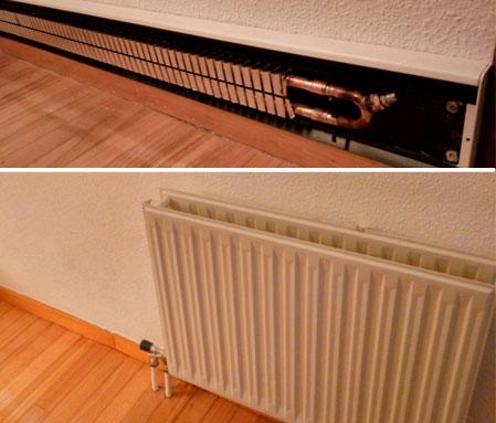 Sustitucion de radiadores por zócalo radiante