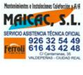 Maicac - Servicio Técnico Oficial Ferroli en Ciudad Real